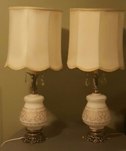 excellent  condition table lamps