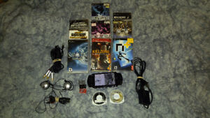 PSP Console + games + accessories.
