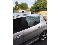 Genuine Peugeot 308 hatchback roof bars