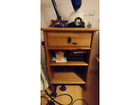 IKEA bedside table, solid pine, leksvik range