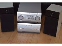 SONY CD RADIO DOUBLE CASSETTE AUX IN 150W PLAY IPOD PHONE MUSIC