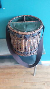 Wine Festival New Wicker Insulated Wine Cooler Picnic Basket Bag