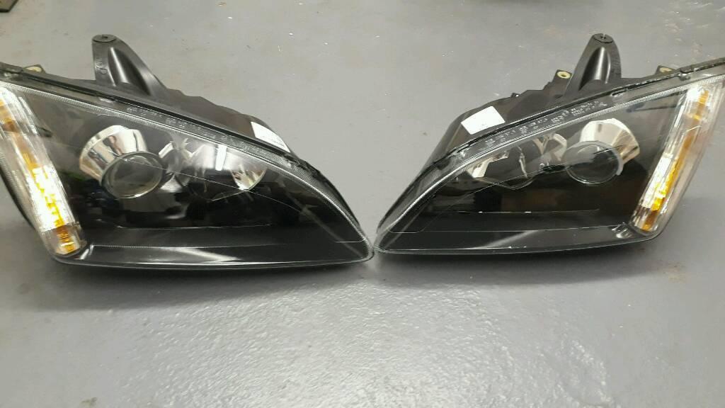 Ford Focus Mk Black Xenon Headlights