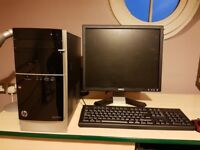 HP Pavilion Desktop Computer with monitor, keyboard and mouse