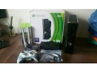 xbox 360 console slim 250gb with games