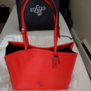 COACH Mickey Mouse leather skinny Tote handbag -- limited editi