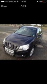 2009 VOLKSWAGEN POLO BLACK 1.4cc £ 2450