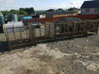 Five calf rehearing pens with bucket holders farm livestock tractor