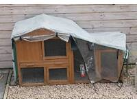 Outdoor Rabbit Hutch with cover