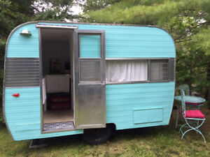 Vintage Trailers for Rent on Rice Lake! Remember when........