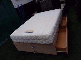 DREAMS 3 quarter bed/mattress/4x drawers/headboard