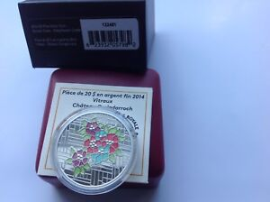 2014 $20 Silver Coin- Stained Glass-Craigdarroch Castle