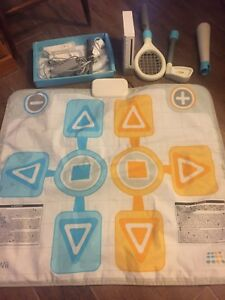 Wii with wii fit and wii mat