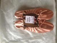 Zara pink saten ballerinas size 6