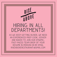 Hiring in all Departments!
