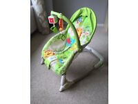 Fisher Price Adjustable Rocker with Arm of Hanging Toys