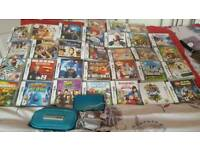 Nintendo 3DS Console (Aqua Blue) & 31 Games with charger No offers please and no time wasters