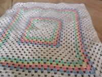"""New crochet baby blanket aprox 24"""" square"""