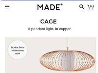 Brand new copper light fitting