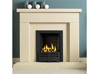 Stone fire surround by Gallery Chilton Fireplaces