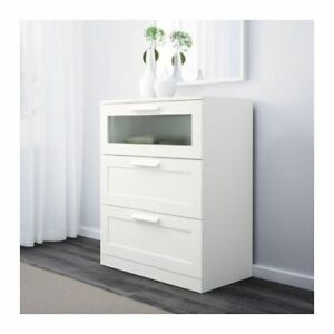 Commode blanche 3 tiroirs Ikea collection Brimnes