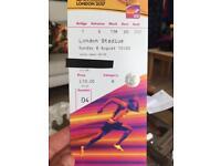 IAAF world champs athletics tickets x 2