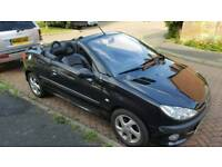 Peugeot 206cc convertible 2003 1.6 petrol New MOT full service history cheap car!