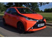 2014 TOYOTA AYGO X-CITE, X-SHIFT, 1.0 PETROL,AUTO,£0 RD TX,2YRS WRNTY,REVERSING CAMERA,ORANGE,PETROL