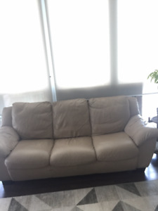 Genuine leather couch in great condition - great price!