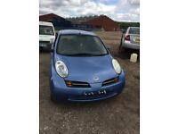 Nissan MICRA 2003 sky blue 1.2 spares breaking spares