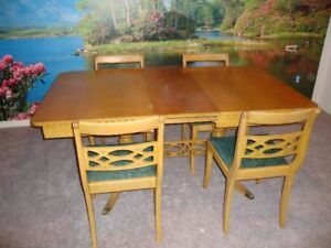For Sale:  Antique Table, 4 Chairs and Buffet