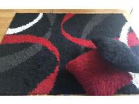Shaggy rug + 2 FREE matching cushions
