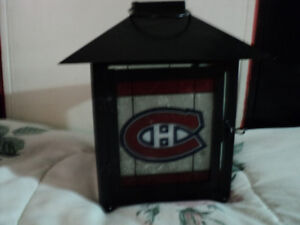 1 tea lite candle latern for habs fan  logo on all 4 sides