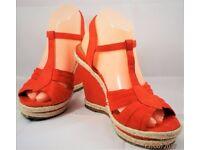 Womens Peach Summer Mules Size 6