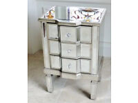 Shabby Vintage Chic Large mirrored Venetian bedside cabinet delivery available