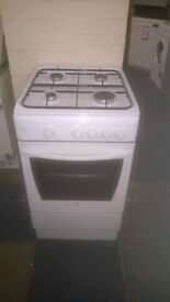 indesit white 50cm gas cooker