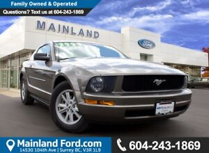2005 Ford Mustang V6 VERY LOW KM'S, LOCAL, ONE OWNER