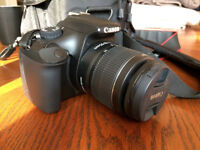 Canon 1100D digital DSLR with Lenses, bag, spare battery and Sandisc 16gb card �320