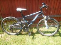 18 gear 24 downhill mountain bike. 16 inch frame for 11-14 year old-reduced for quick sale