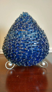 Vintage Stacked Glass & Cone Shaped Table Lamp