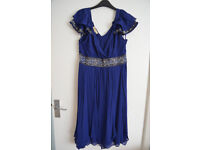 Monsoon Dress size 12 navy blue / bead embroidery detail