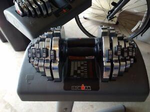 Iron adjustable weights