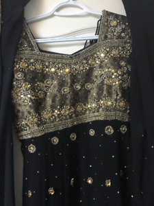 BRAND NEW BLACK AND GOLD INDIAN SUITS $50 EACH