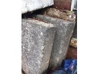 Free concrete ruble slabs stone bricks kerb stones