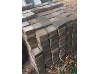 Tumble Paving Blocks - Patio / Driveway - 140mm x 140mm - mixed colours