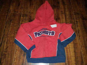 NFL size 4T pull over hoodie of the Patriots