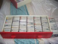JOB LOT-LARGE AMOUNT OF VARIOUS MUSIC ON CASSETTES -OFFERS CONSIDERED