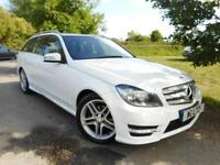 2013 Mercedes Benz C Class C220 CDI BlueEFFICIENCY AMG Sport 5dr Auto 1 Owner...
