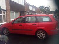 Ford Focus estate Red