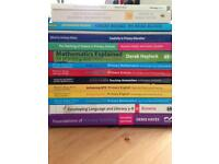 Selection of primary education training books